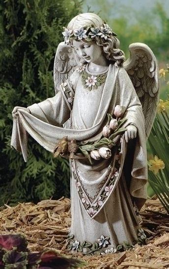 angel  birds  dress garden statue