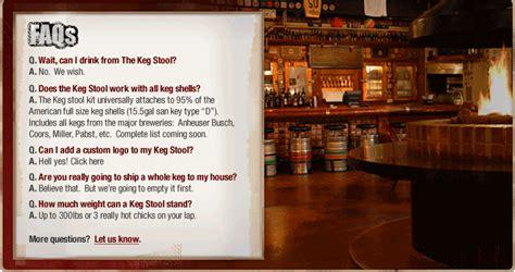 Keg Bar Stool Kit by Chelton Investments Bar Stool Keg Stool Kit Keg Not