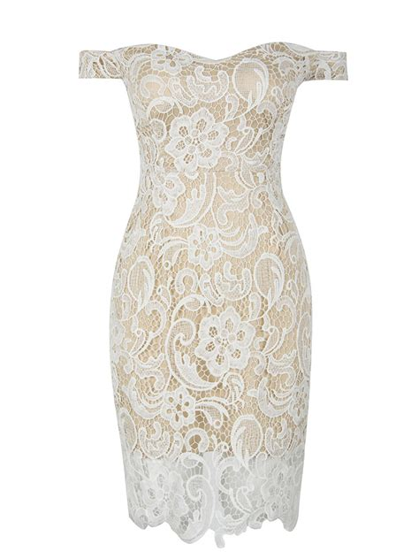 The Shoulder Lace Dress White popular world disabled day white shoulder split back