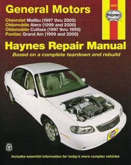 vehicle repair manual 1997 pontiac grand prix free book repair manuals 1997 2003 alero cutlass grand am haynes repair manual