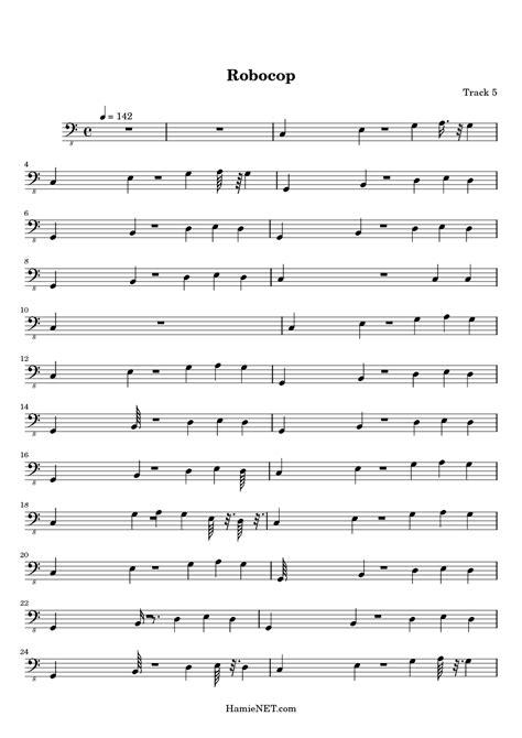 theme music robocop robocop sheet music robocop score hamienet com