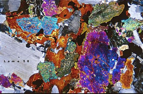 orthopyroxene thin section a plutonic rock thin section full of plag opx