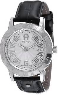 Aigner Cortina Leather buy aigner cortina s silver leather band