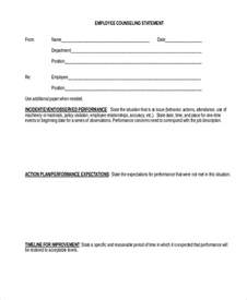 employee counseling form employee agreement is a contract