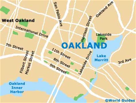 oakland usa map oakland maps and orientation oakland california ca usa