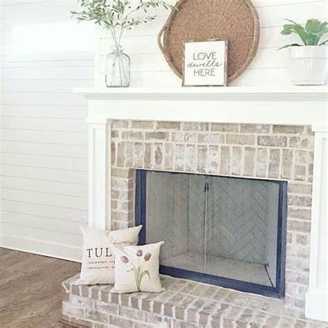 brick fireplace white mantle fireplace best 20 white brick fireplaces ideas on brick