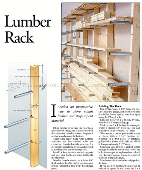 Rack Plan by Lumber Rack Plans Woodarchivist