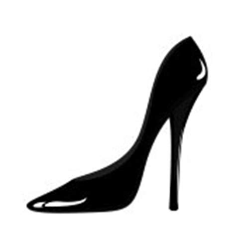 silhouette high heel shoe silhouettes