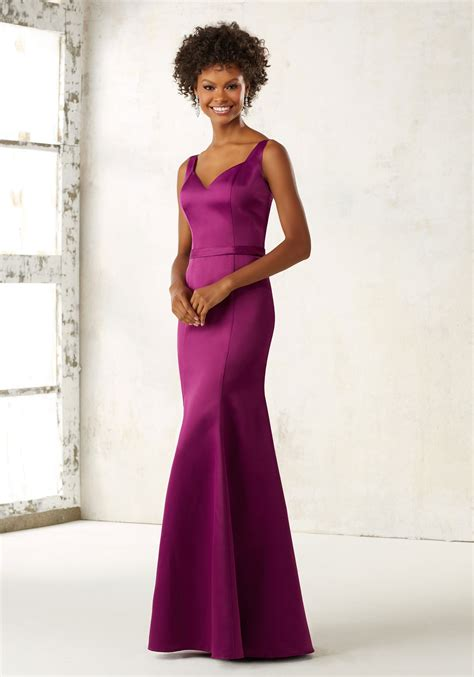 Fitted Satin Bridesmaids Dress Style 21519 Morilee