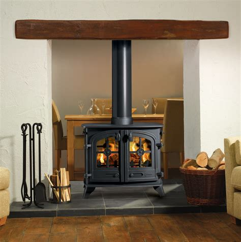 Sided Wood Burning Fireplace by Yeoman Exe Sided Wood Burning Stove