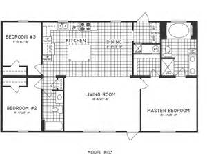 3 bedroom floor plans 3 bedroom floor plan c 8103 hawks homes manufactured