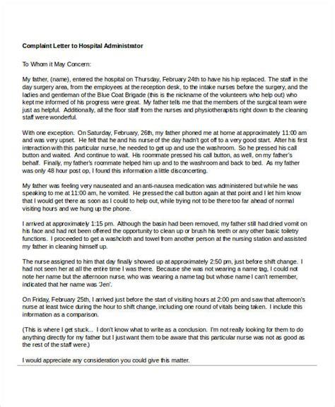 Complaint Letter To Hospital Management