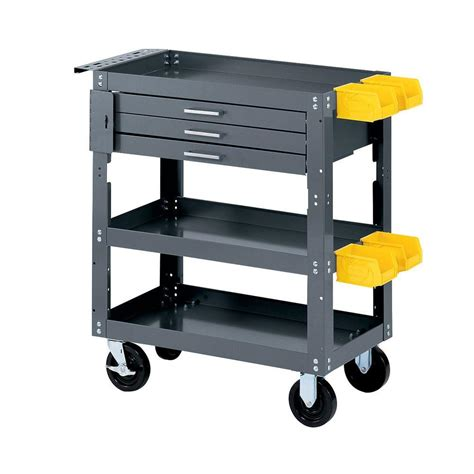 work bench with storage edsal 28 in w x 16 in d mobile workbench with storage