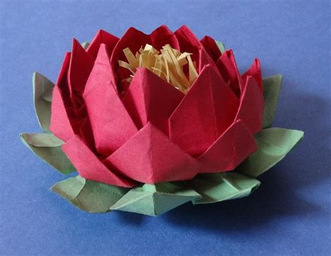 How To Make Lotus Using Paper - best 25 paper lotus ideas on lotus origami