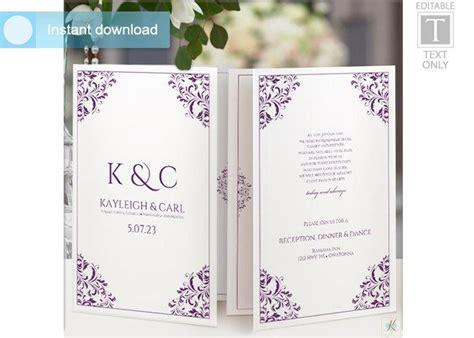 Wedding Program Template Foldover Booklet 2558579 Weddbook Wedding Booklet Template