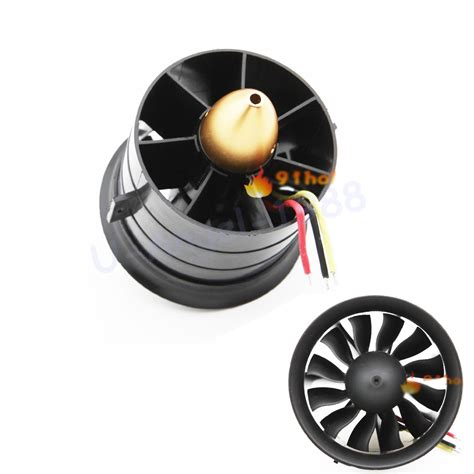 70mm ducted fan 1 set change sun 70mm ducted fan 12 blades with edf 2839