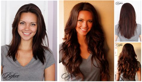 hair extensions for short hair before after clip in extensions for short hair before and after