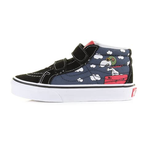 youth vans sk8 reissue peanuts snoopy flying ace dress blue trainers uk size ebay