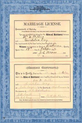 Kent Marriage Records Hickman County Kent 1892 Marriage Records Wm