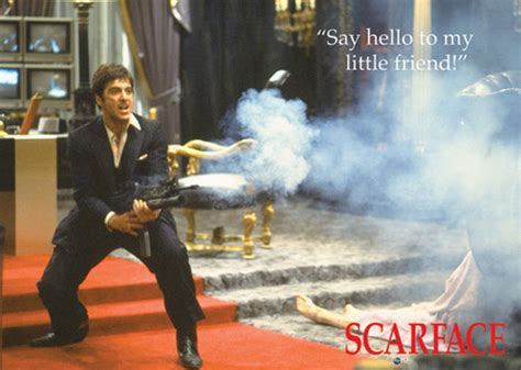Snowman Doormat Scarface Say Hello To My Little Friend Framed Poster