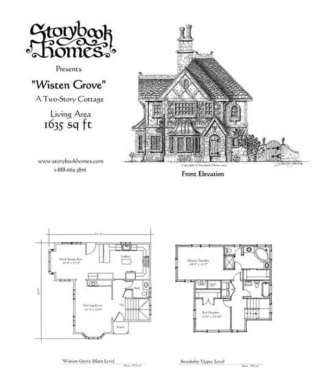 storybook cottage floor plans wisten grove houseplan via storybook homes house plans