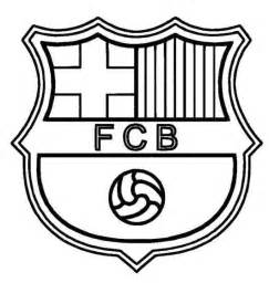 barcelona logo soccer coloring pages love party logos coloring