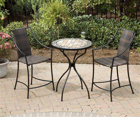 bistro patio table and chairs set high top patio table and chairs marceladick