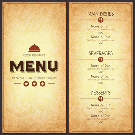 design cover menu restaurant restaurant menu cover with list vector set 03 vector