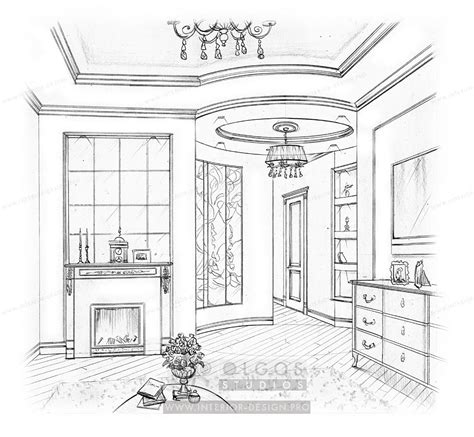 interior drawing hallway interior design visualisations design projects hallway design from olga s studio