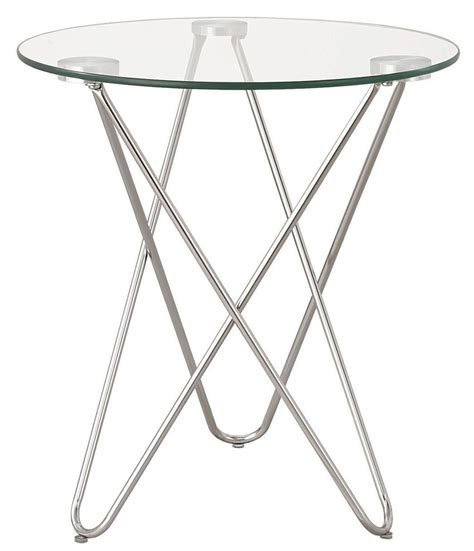 chrome accent tables 901914 chrome accent table from coaster 901914 coleman