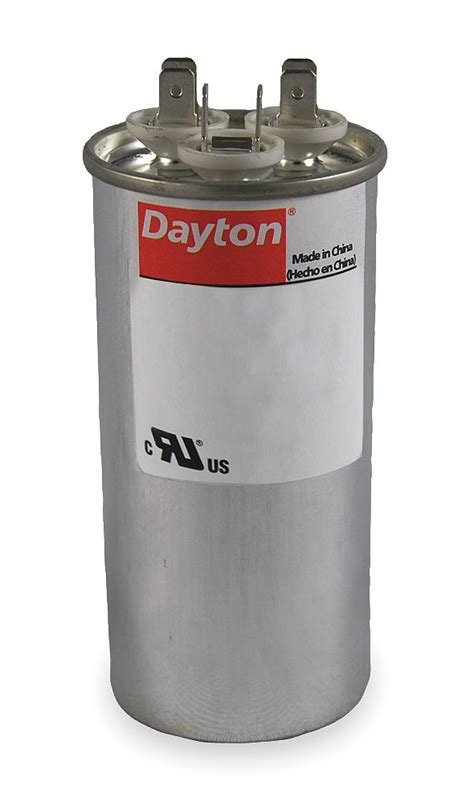 dayton motor dual run capacitor 35 3 microfarad rating 440vac voltage 6flt1 motors
