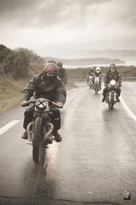 raincoat for bike riders 62 best rockers images on pinterest british motorcycles