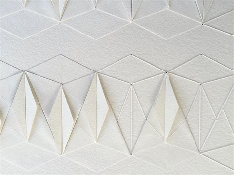 Origami Pattern - delicate stitched origami patterns by liz sofield
