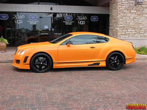 bentley orange matte orange 2007 bentley continental gt genho