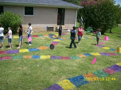 backyard birthday games candyland birthday party turned the backyard into a giant candyland board game with