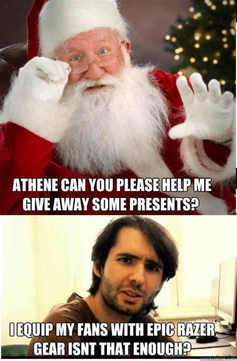 Santa Claus Meme - athene talking with santa claus memes quickmeme