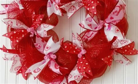 valentines day ribbon easy mesh ribbon s day wreath