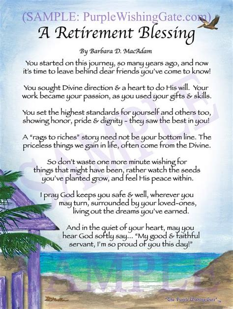 Wedding Dedication Blessing by A Retirement Blessing Framed Personalized Gifts