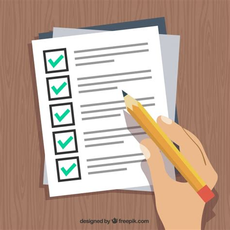 How To Fill Out Background Check Form Holding A Pen And Filling Out A Form Vector Free