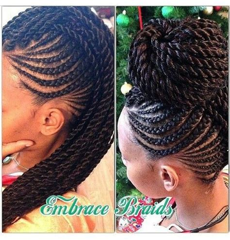 Cornrow And Twist Hairstyles by Senegalese Twist With Cornrows Search Hair