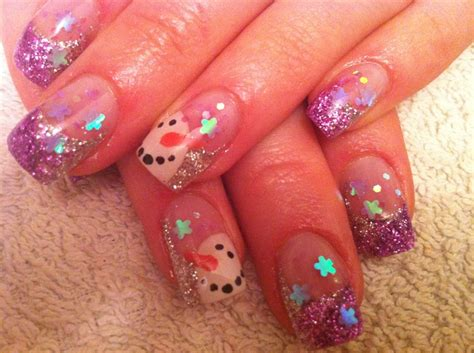 Christmas winter nail art design likewise pretty christmas nail design