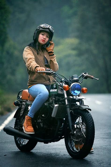 modifikasi motor kawasaki ninja  cb classic style