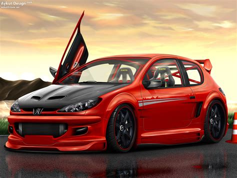 peugeot 206 tuning peugeot images peugeot 206 tuning hd wallpaper and