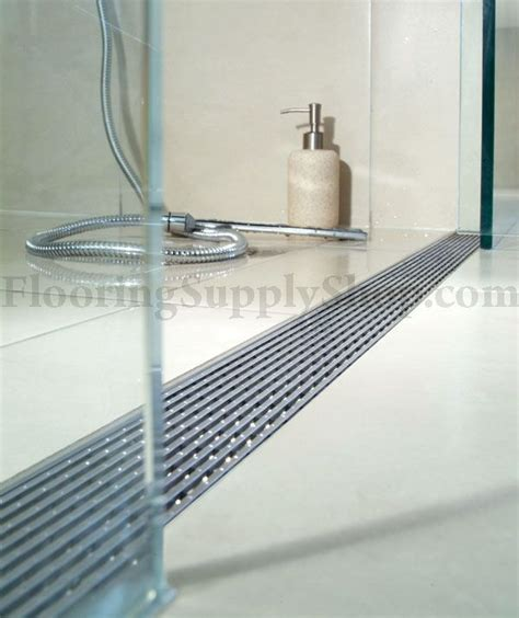 Shower Channel Drain by Quartz By Aco Linear Shower Drain Linear Wedge