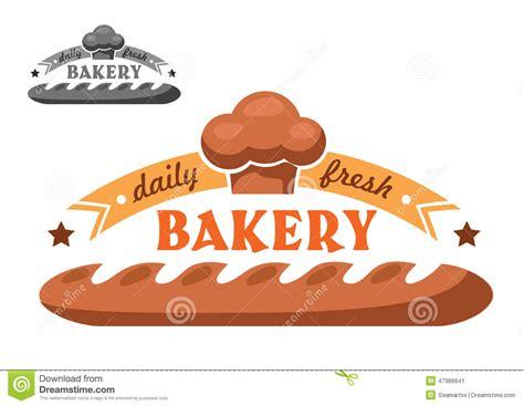 bakery shop emblem  logo   color variants stock
