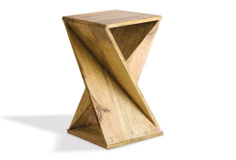 Twisted Wood Side Table   Antique Farmhouse Antique Farmhouse