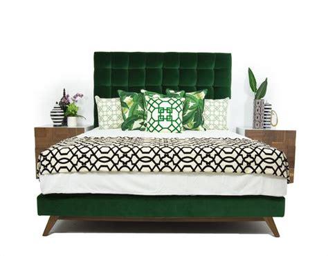 Kitchen Cabinets Outlet Stores by Delano Bed In Como Emerald Velvet Modshop
