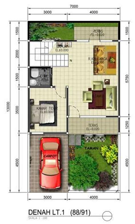 jasa desain gambar murah jasa gambar denah 3d rumah lantai 1 dengan taman yang asri