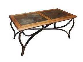 Rustic Coffee Table Legs Sd 3125ro C Sedona Rustic Oak Coffee Table With Slate Inlay Top And Metal Legs Oak Coffee