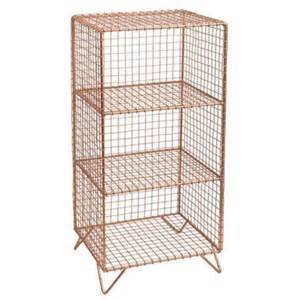Wire Cube Shelf by Wire Shelf 3 Cube Copper I Want It All Junk Disorderly